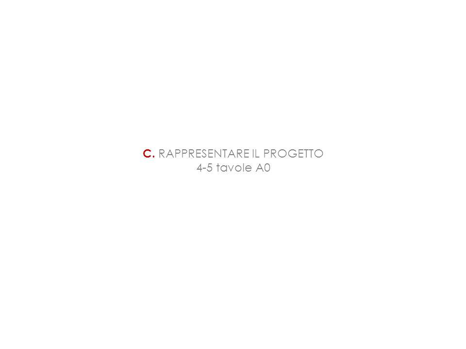 C. RAPPRESENTARE IL PROGETTO 4-5 tavole A0