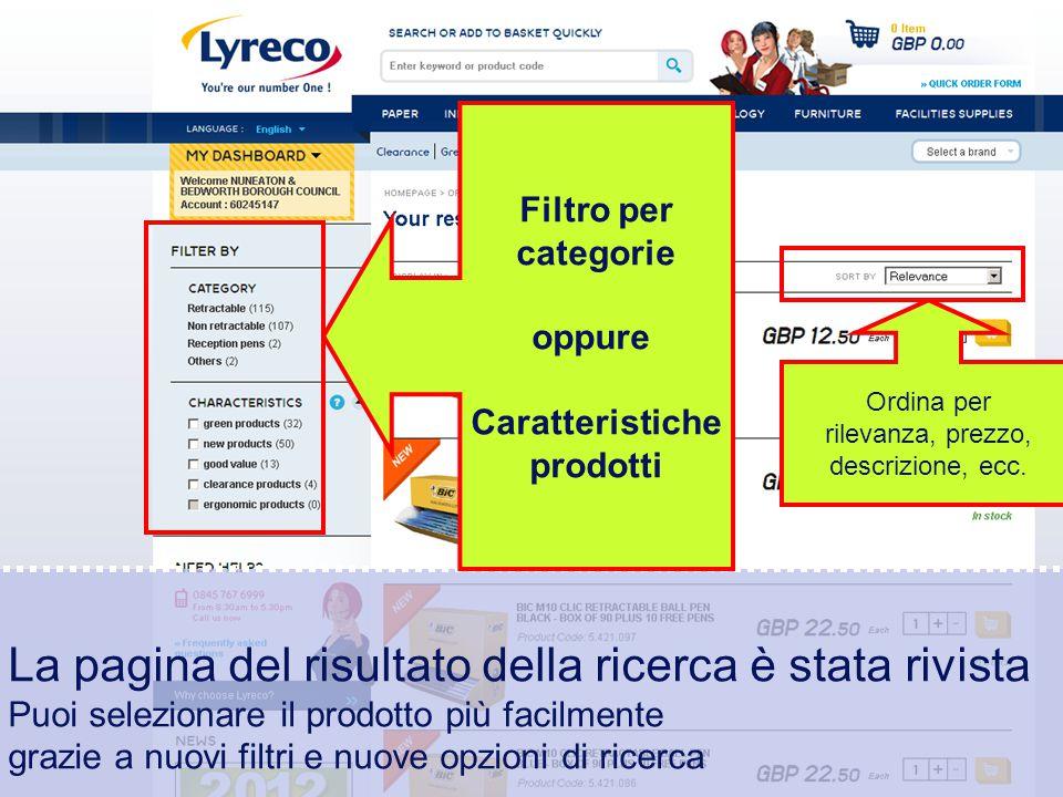 Confidential – graphic materials for illustration only La pagina del risultato della ricerca è stata rivista Puoi selezionare il prodotto più facilmen