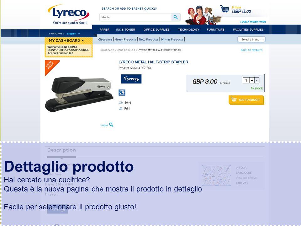 Confidential – graphic materials for illustration only Dettaglio prodotto Hai cercato una cucitrice.
