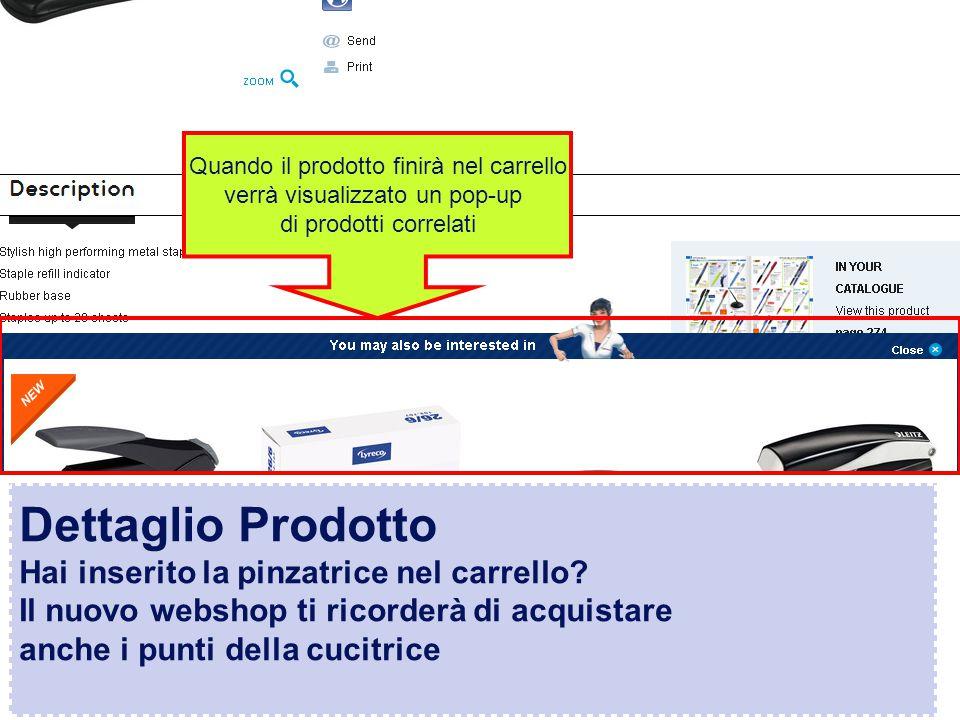 Confidential – graphic materials for illustration only Dettaglio Prodotto Hai inserito la pinzatrice nel carrello.