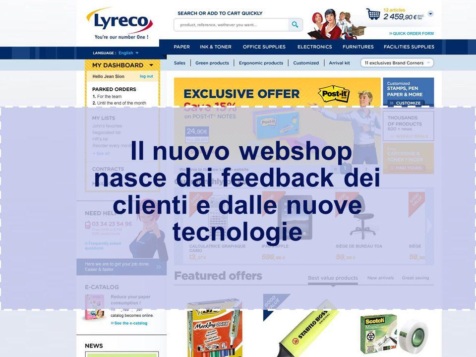 Confidential – graphic materials for illustration only Il webshop di Lyreco è un mix di semplicità, funzioni intelligenti e design moderno
