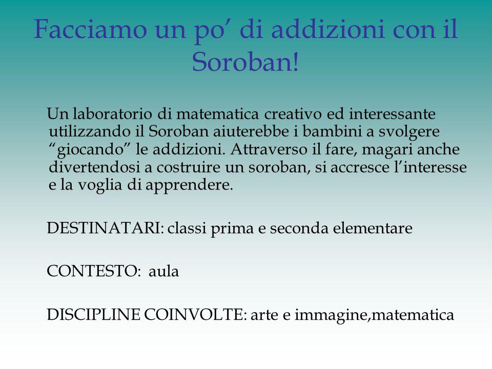 Facciamo un po' di addizioni con il Soroban! Un laboratorio di matematica creativo ed interessante utilizzando il Soroban aiuterebbe i bambini a svolg