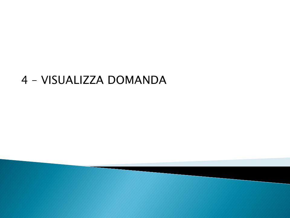 4 – VISUALIZZA DOMANDA