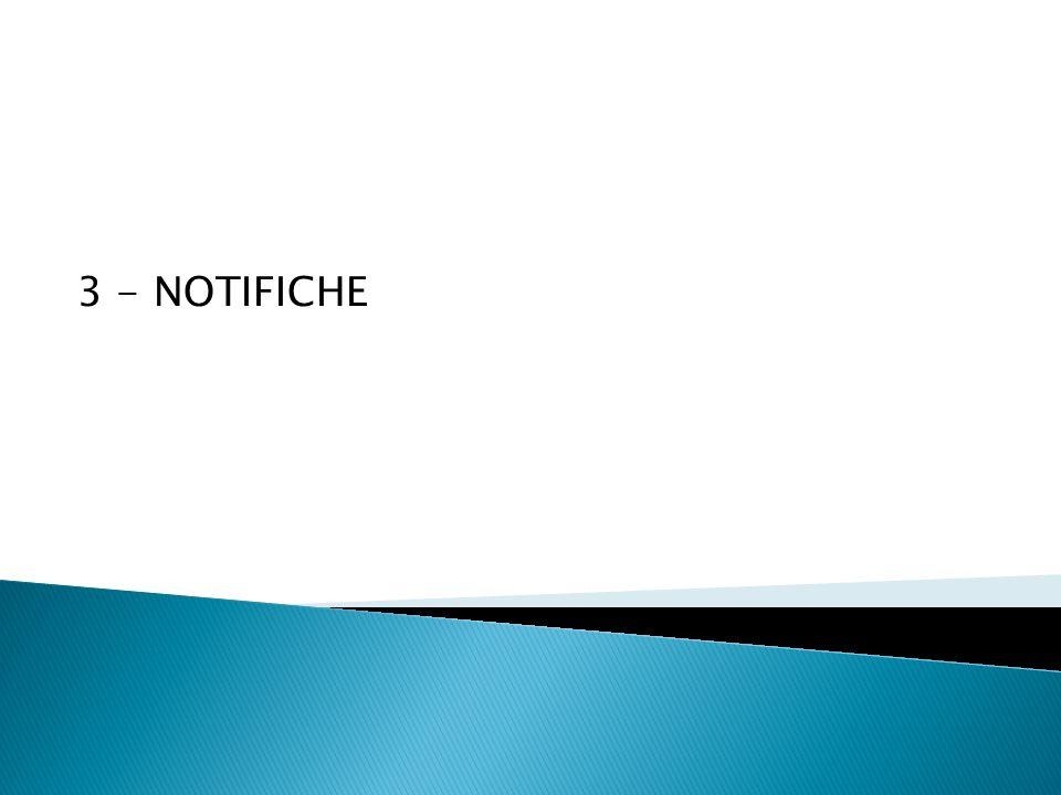 3 - NOTIFICHE