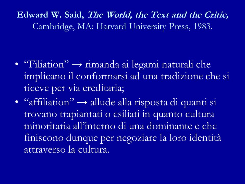 Edward W. Said, The World, the Text and the Critic, Cambridge, MA: Harvard University Press, 1983.