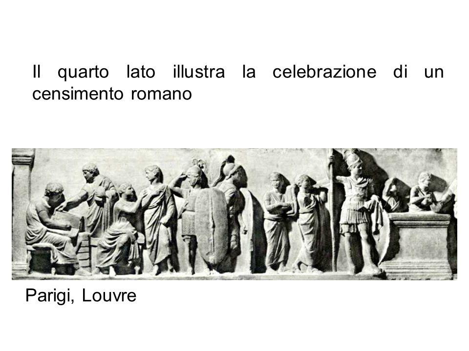 Il quarto lato illustra la celebrazione di un censimento romano Parigi, Louvre