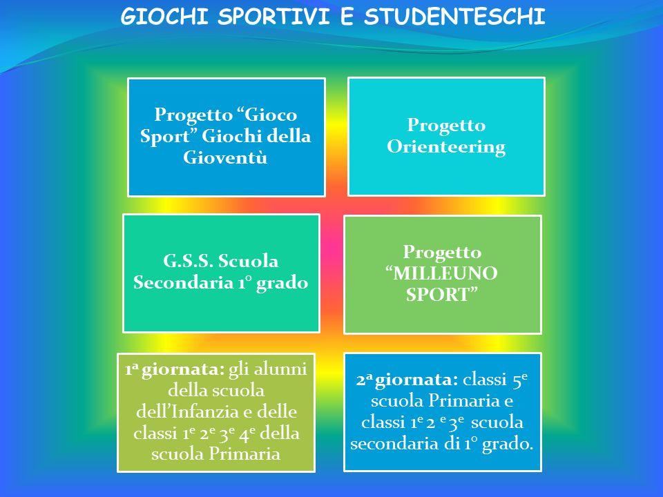 Progetto Gioco Sport Giochi della Gioventù Progetto Orienteering G.S.S.