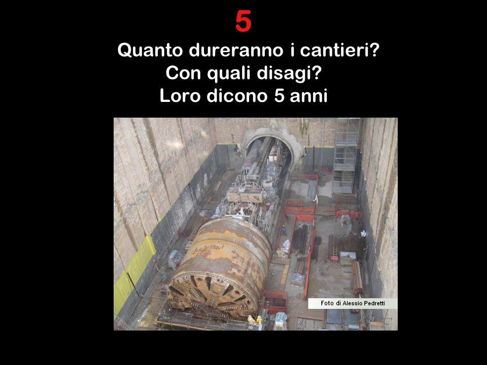 5 Quanto dureranno i cantieri Con quali disagi Loro dicono 5 anni.