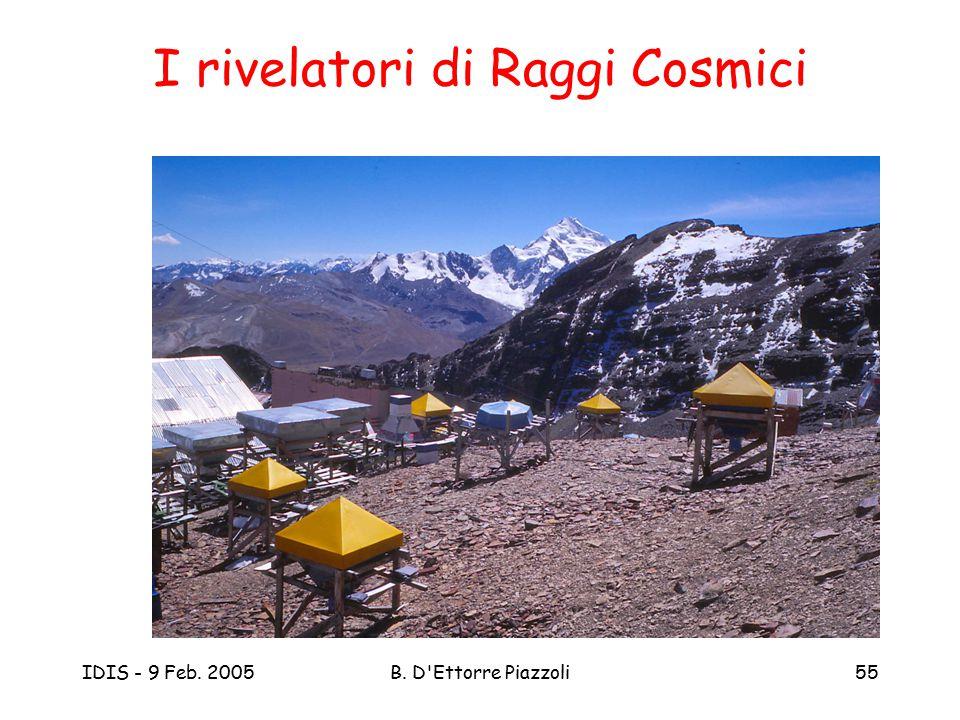 IDIS - 9 Feb. 2005B. D'Ettorre Piazzoli55 I rivelatori di Raggi Cosmici