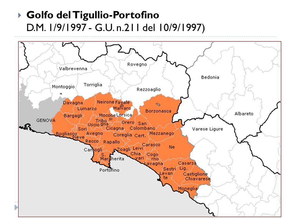  Golfo del Tigullio-Portofino D.M. 1/9/1997 - G.U. n.211 del 10/9/1997)