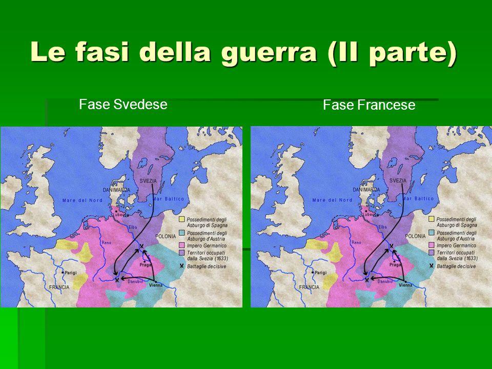 Le fasi della guerra (II parte) Fase Svedese Fase Francese