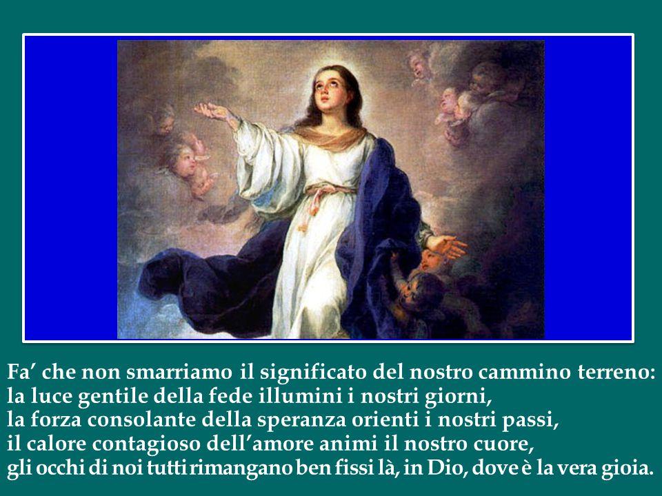 Tu sei la Tutta Bella, o Maria! In Te è la gioia piena della vita beata con Dio.
