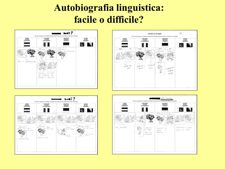 Autobiografia linguistica: facile o difficile