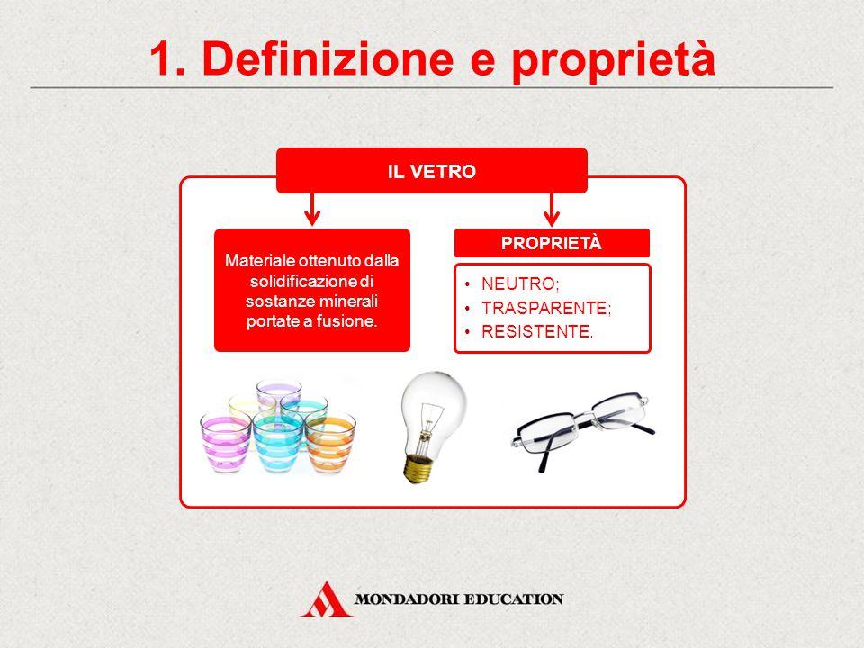 Il vetro CONTENUTI 1.Definizione e proprietà Il vetro è il materiale perfetto.