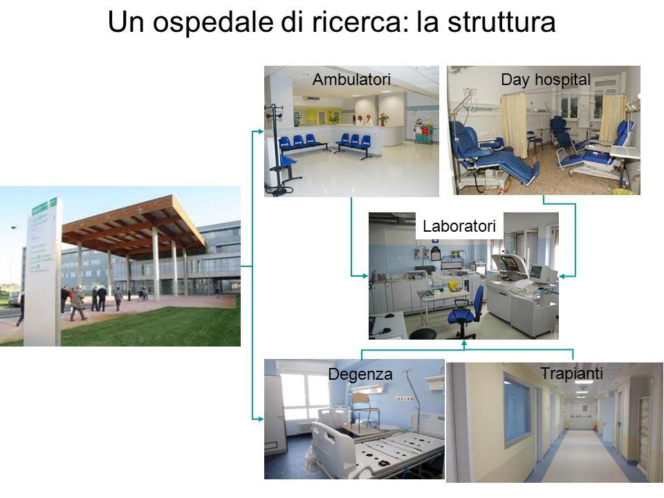 Un ospedale di ricerca: la struttura AmbulatoriDay hospital Trapianti Degenza Laboratori