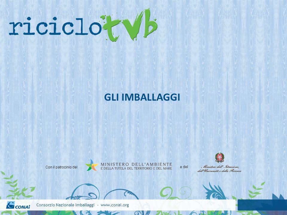 Consorzio Nazionale Imballaggi - www.conai.org GLI IMBALLAGGI Con il patrocinio del e del
