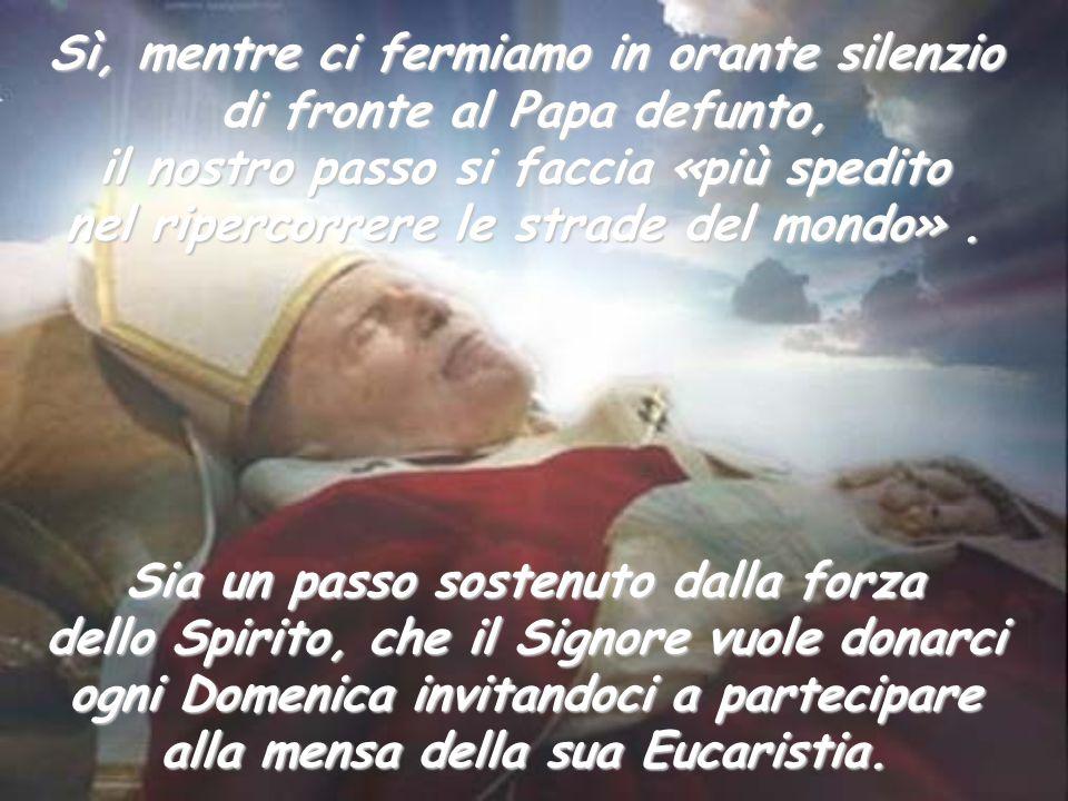 Sia un passo sostenuto dalla forza dello Spirito, che il Signore vuole donarci ogni Domenica invitandoci a partecipare alla mensa della sua Eucaristia
