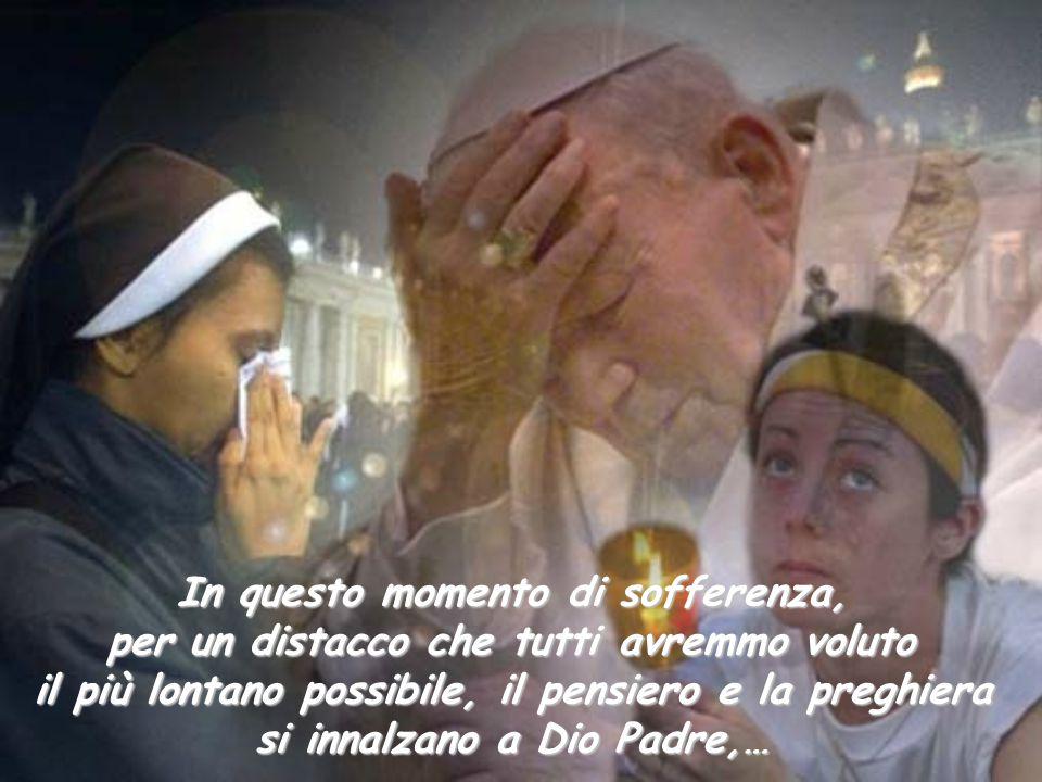 Continui, allora, a risuonare in noi l'appello pressante che, con voce ferma e appassionata, Giovanni Paolo II ha rivolto a tutti all'inizio del suo pontificato: