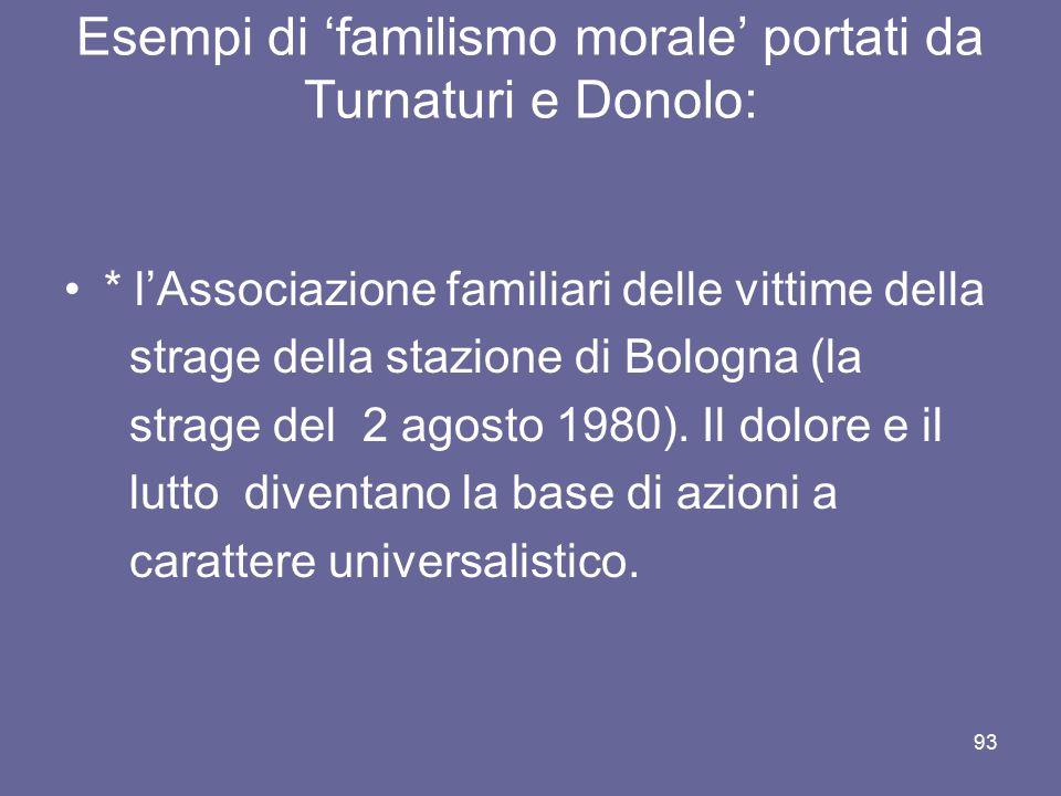 * l'Associazione familiari delle vittime della strage della stazione di Bologna (la strage del 2 agosto 1980). Il dolore e il lutto diventano la base