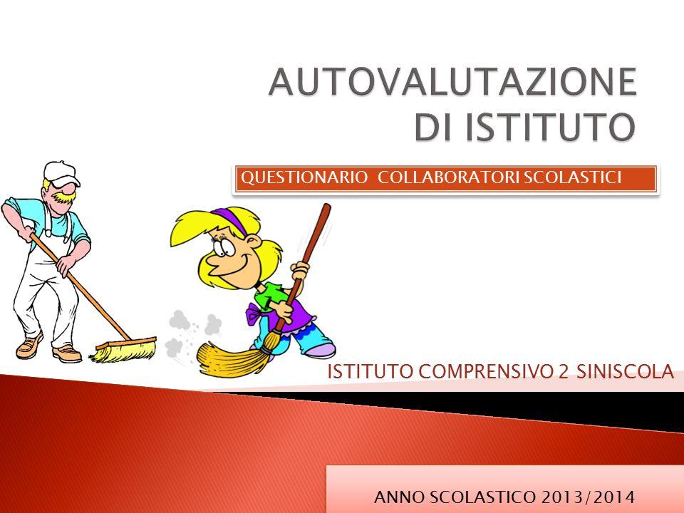 QUESTIONARIO COLLABORATORI SCOLASTICI ISTITUTO COMPRENSIVO 2 SINISCOLA ANNO SCOLASTICO 2013/2014