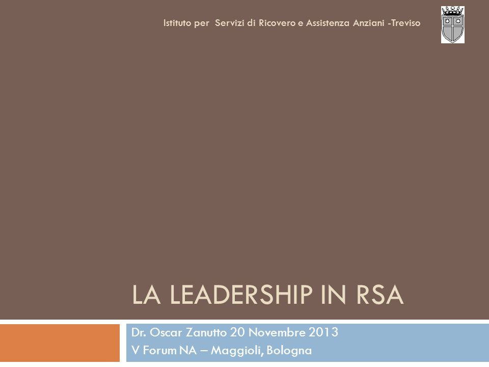 LA LEADERSHIP IN RSA Dr.