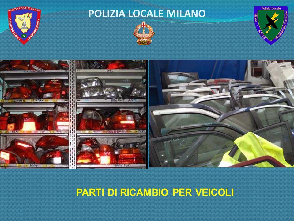 PARTI DI RICAMBIO PER VEICOLI POLIZIA LOCALE MILANO