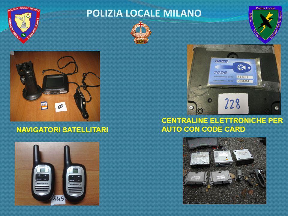 NAVIGATORI SATELLITARI CENTRALINE ELETTRONICHE PER AUTO CON CODE CARD POLIZIA LOCALE MILANO