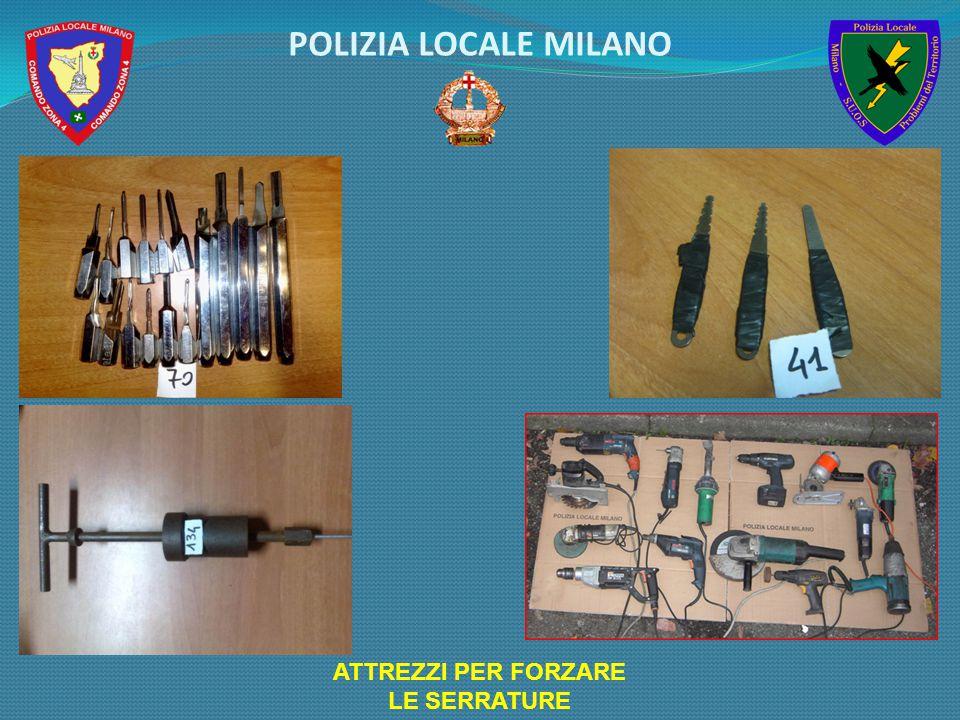 ATTREZZI PER FORZARE LE SERRATURE POLIZIA LOCALE MILANO