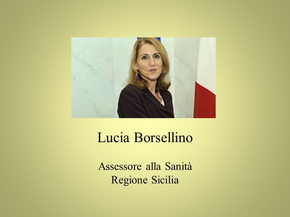 Lucia Borsellino Assessore alla Sanità Regione Sicilia