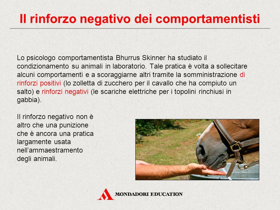 Lo psicologo comportamentista Bhurrus Skinner ha studiato il condizionamento su animali in laboratorio. Tale pratica è volta a sollecitare alcuni comp