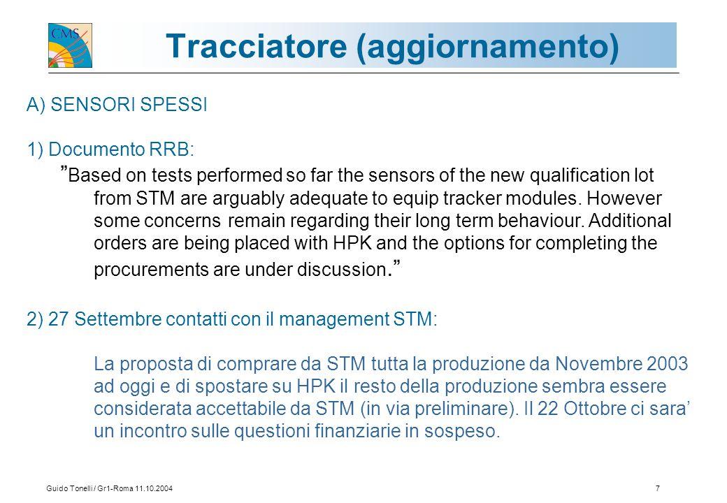 Guido Tonelli / Gr1-Roma 11.10.20048 B) IBRIDI La soluzione di allargare il via critico a 120  m e di utilizzare un layer intermedio di kapton ha portato a risultati molto buoni.