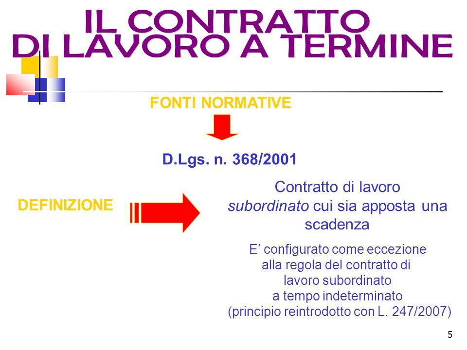 5 DEFINIZIONE FONTI NORMATIVE D.Lgs. n.