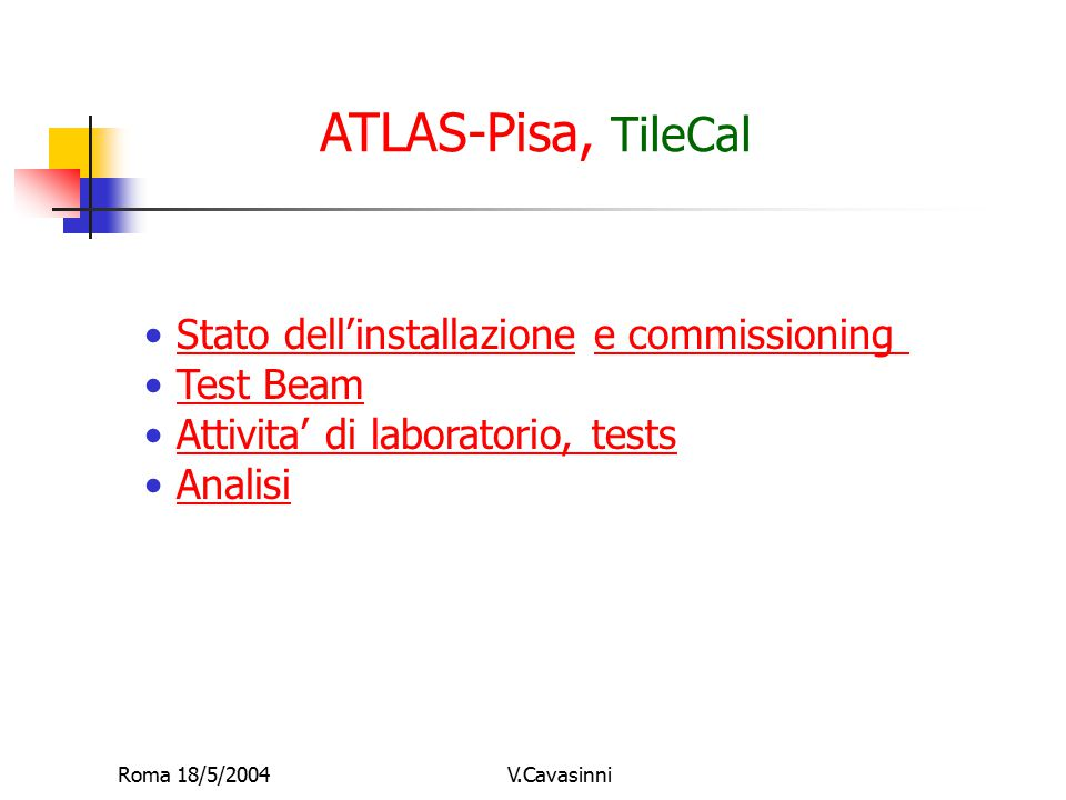Roma 18/5/2004V.Cavasinni TileCal Preassemby in Bld 185 September 2003