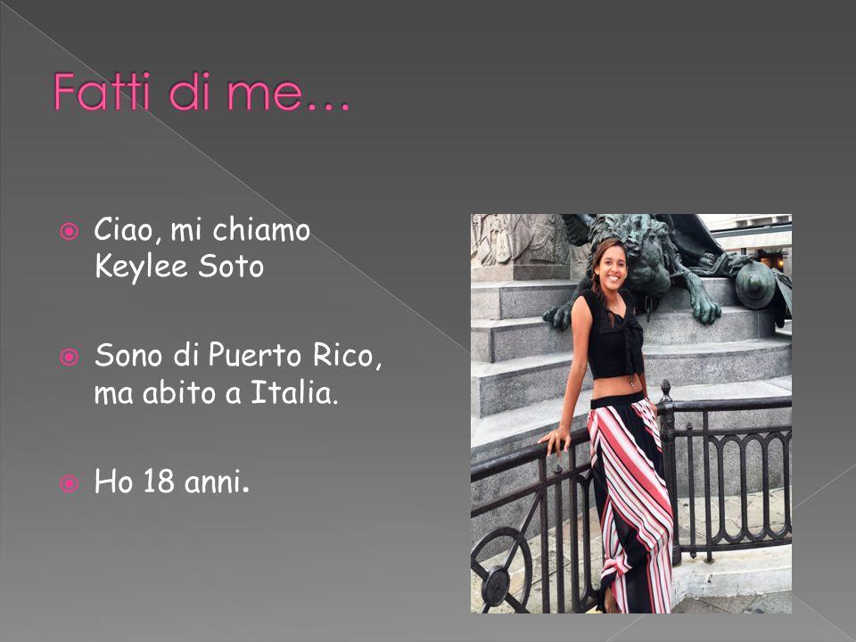  Ciao, mi chiamo Keylee Soto  Sono di Puerto Rico, ma abito a Italia.  Ho 18 anni.