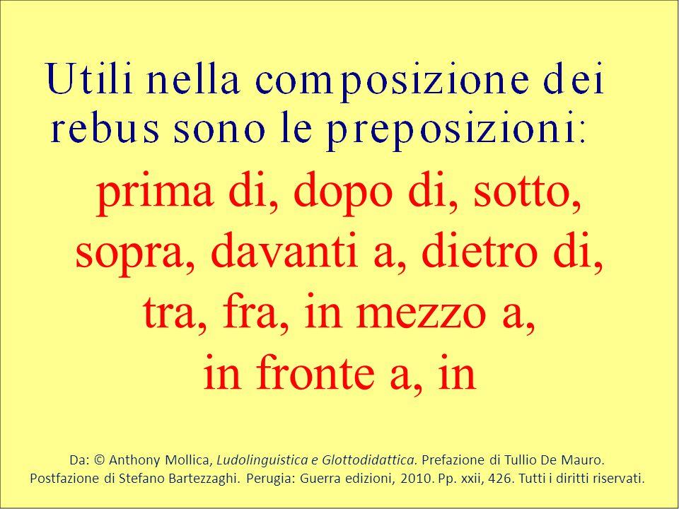 Da: © Anthony Mollica, Ludolinguistica e Glottodidattica. Prefazione di Tullio De Mauro. Postfazione di Stefano Bartezzaghi. Perugia: Guerra edizioni,