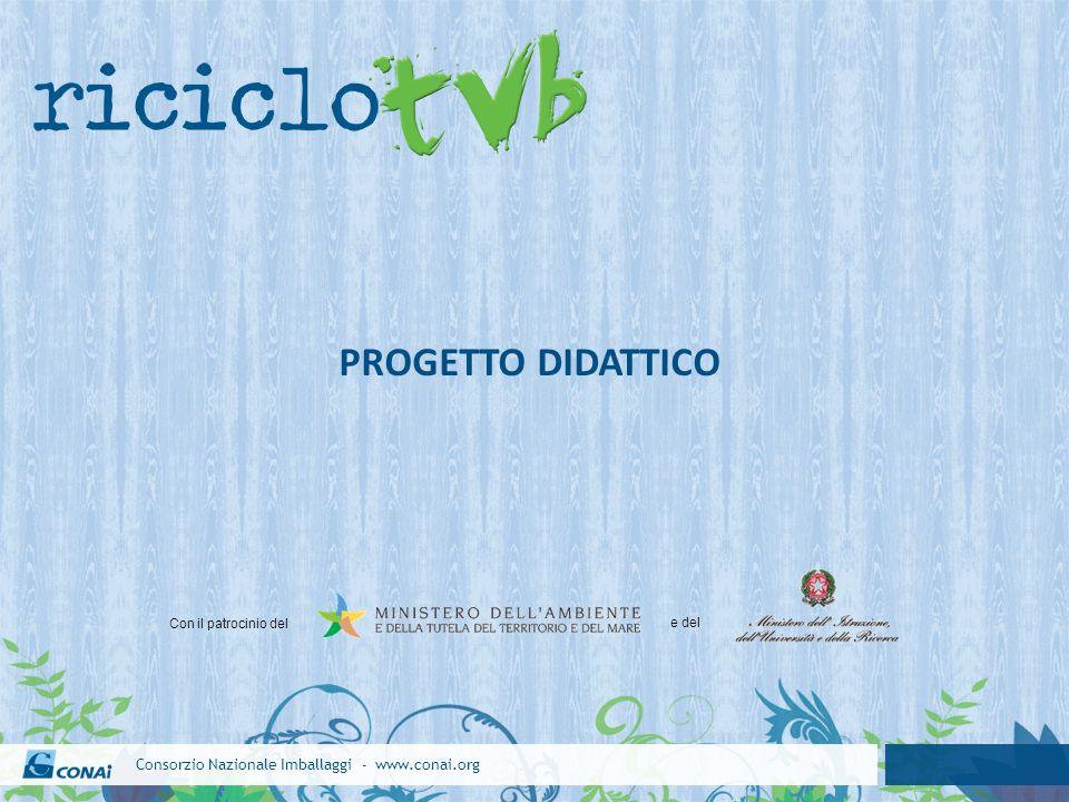 Consorzio Nazionale Imballaggi - www.conai.org PROGETTO DIDATTICO Con il patrocinio del e del