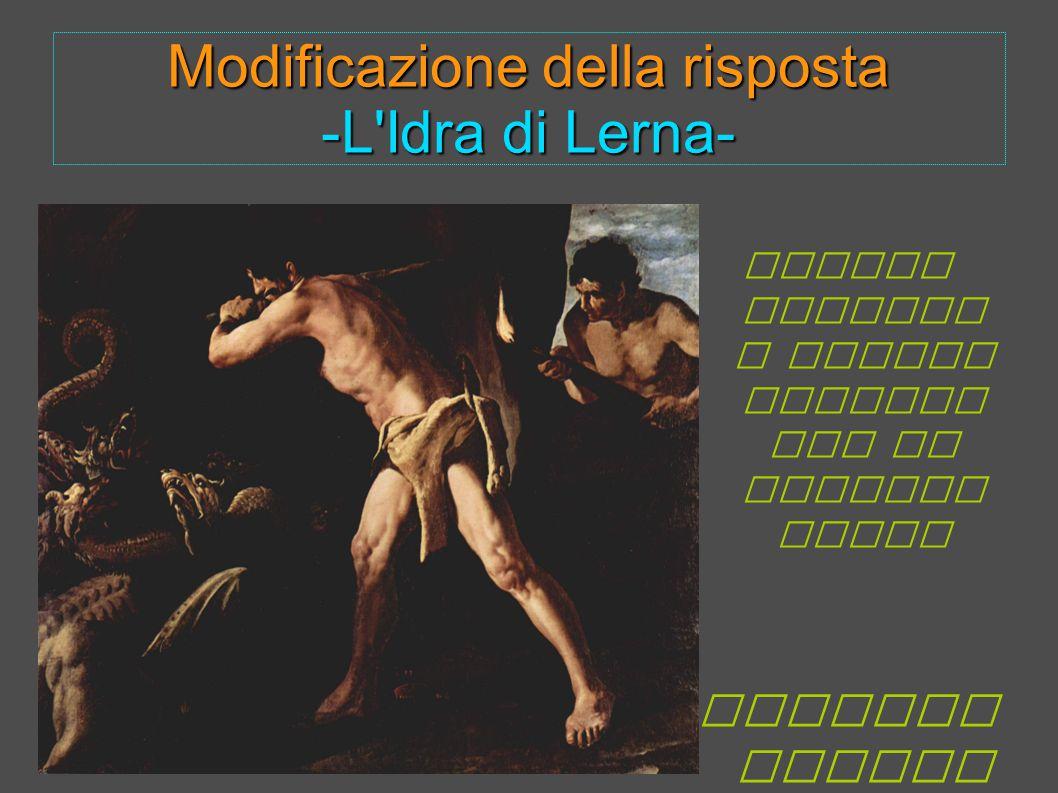 Modificazione della risposta -L Idra di Lerna- Seconda fatica Quante rispost e uguali servono per un cambiam ento