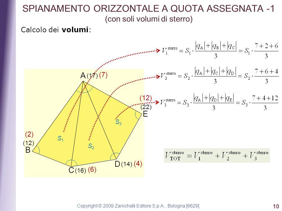 Copyright © 2009 Zanichelli Editore S.p.A., Bologna [6629] 10 Calcolo dei volumi: E A B C D S1S1 S2S2 S3S3 (17) (12) (16) (14) (22) (7) (2) (6) (4) (12)