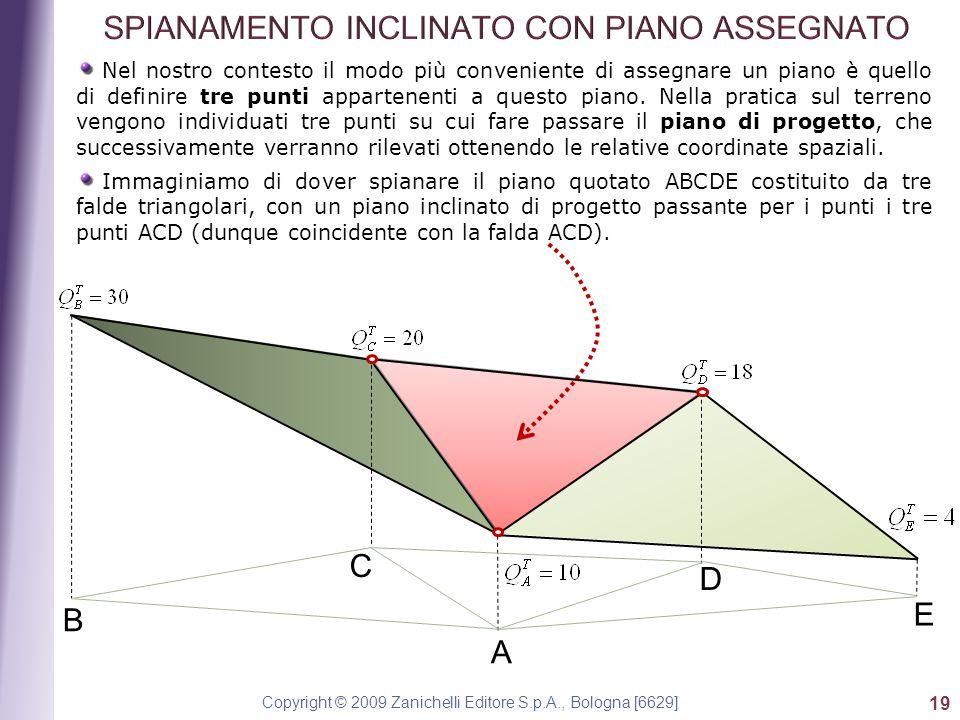 Copyright © 2009 Zanichelli Editore S.p.A., Bologna [6629] 19 Nel nostro contesto il modo più conveniente di assegnare un piano è quello di definire t