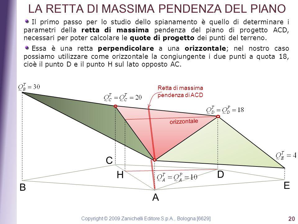 Copyright © 2009 Zanichelli Editore S.p.A., Bologna [6629] 20 Il primo passo per lo studio dello spianamento è quello di determinare i parametri della