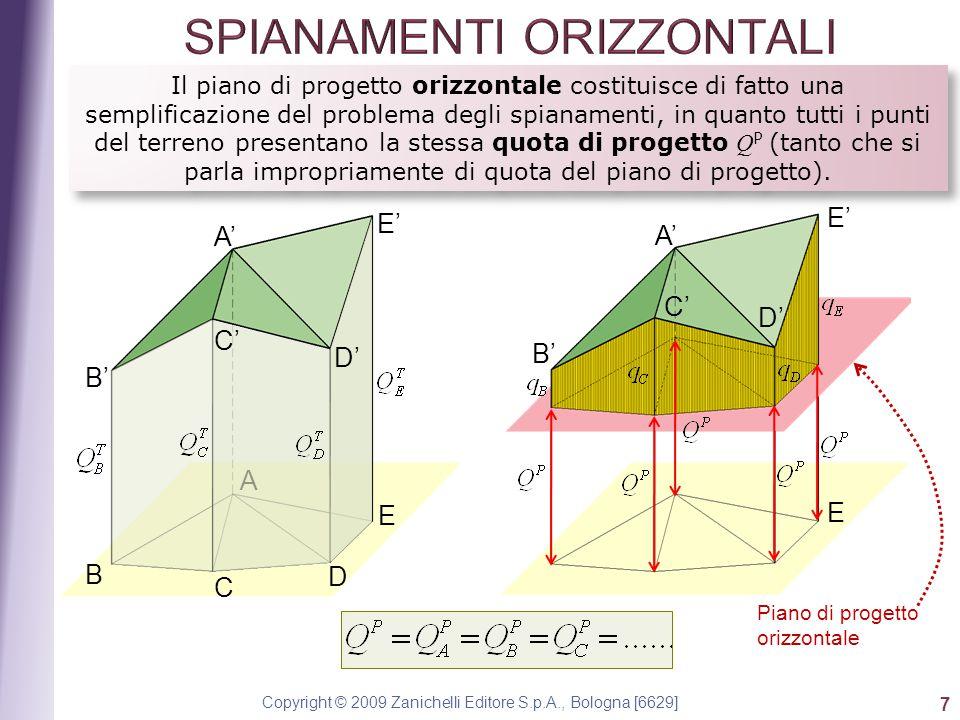Copyright © 2009 Zanichelli Editore S.p.A., Bologna [6629] 7 Il piano di progetto orizzontale costituisce di fatto una semplificazione del problema de