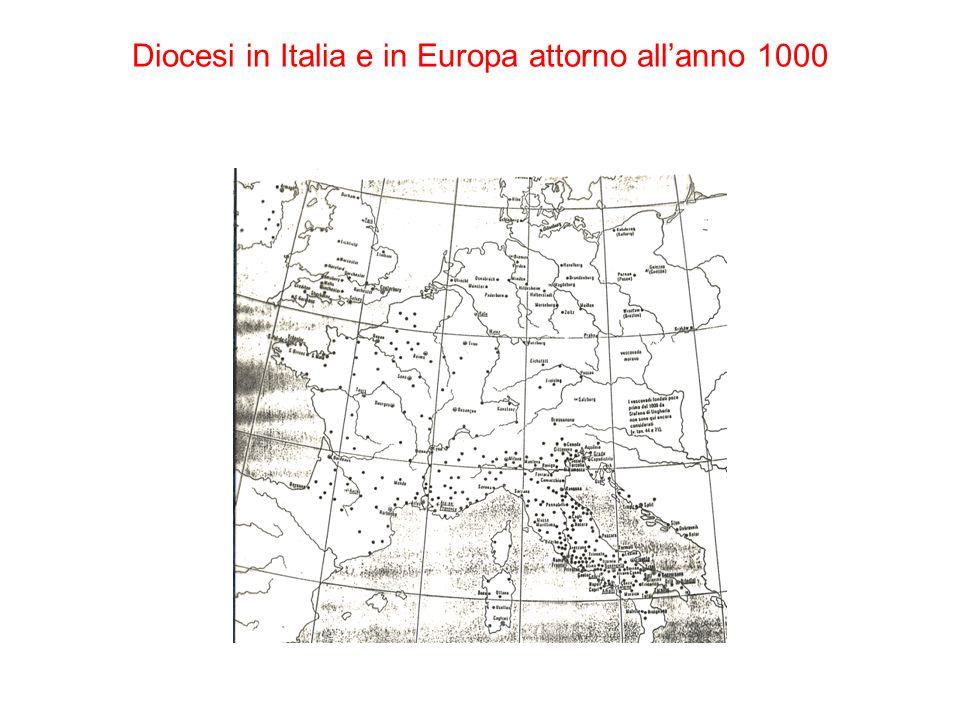 Diocesi in Italia e in Europa attorno all'anno 1000