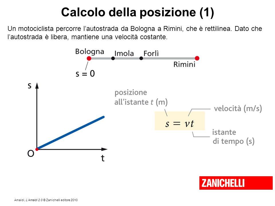 Amaldi, L'Amaldi 2.0 © Zanichelli editore 2010 Calcolo della posizione (1) Un motociclista percorre l'autostrada da Bologna a Rimini, che è rettilinea
