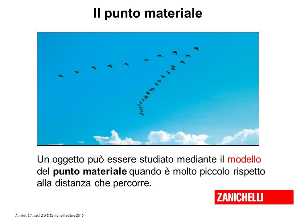 Amaldi, L'Amaldi 2.0 © Zanichelli editore 2010 Il punto materiale Un oggetto può essere studiato mediante il modello del punto materiale quando è molt