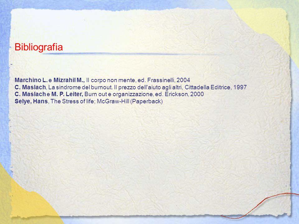 Bibliografia Marchino L.e Mizrahil M., Il corpo non mente, ed.