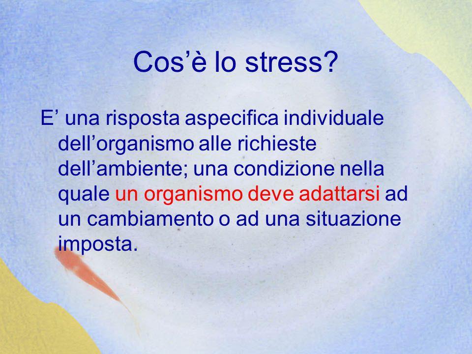 Cos'è lo stress.