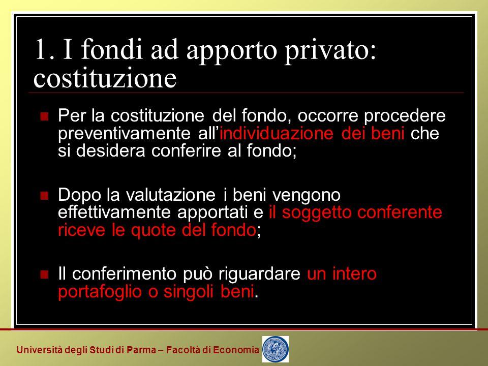 Università degli Studi di Parma – Facoltà di Economia 3. Una verifica empirica: confronto VAN