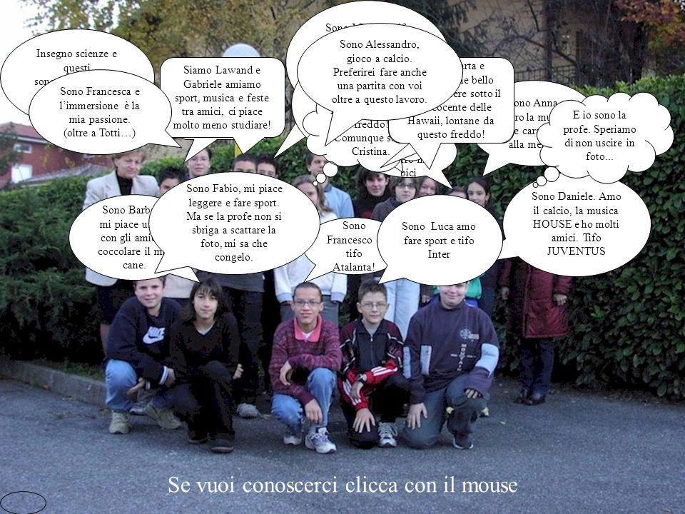 La classe terza D Anno scolastico 2001/2002 Scuola Media Statale di Cene Ecco a voi