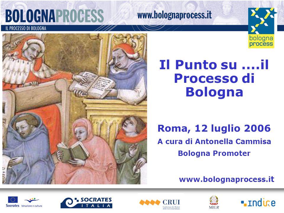 Il Punto su....il Processo di Bologna Roma, 12 luglio 2006 A cura di Antonella Cammisa Bologna Promoter www.bolognaprocess.i t