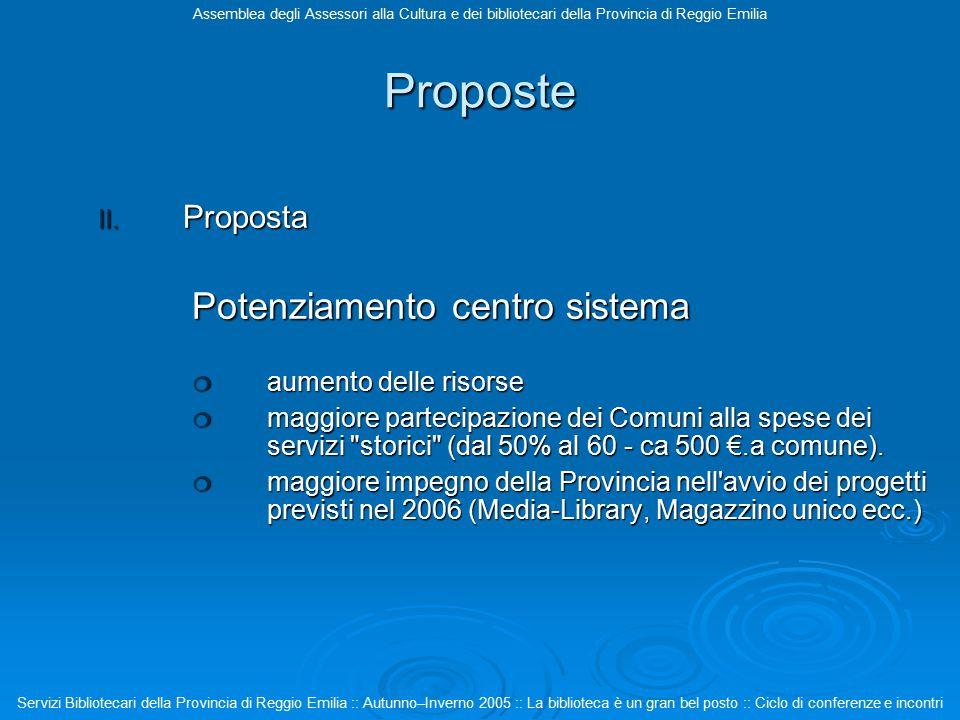 Proposte II.